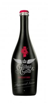 """GLITTER & GOLD flavoured Secco """"Cranberry"""" 0,75l Glas"""