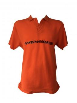 """Polo-Shirt """"Ganzjahresgriller"""""""