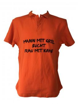 """Polo-Shirt """"Mann mit Grill…"""""""